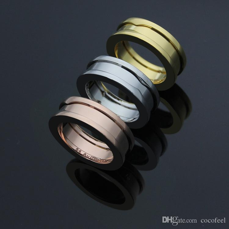 Wide 7mm Titanium Stainless Steel Gear Rings, Women/Men Yellow Gold/Rose Gold/Silver Metal Colors Fashion Jewelry