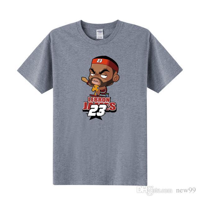 promo code 01dd9 53b27 2019 mens designer t shirts Free shipping Man T Shirt Cartoon TShirt  KOBE/PAUL/LeBron James T Shirt WADE/CURRY/Harden T-shirt Clothing