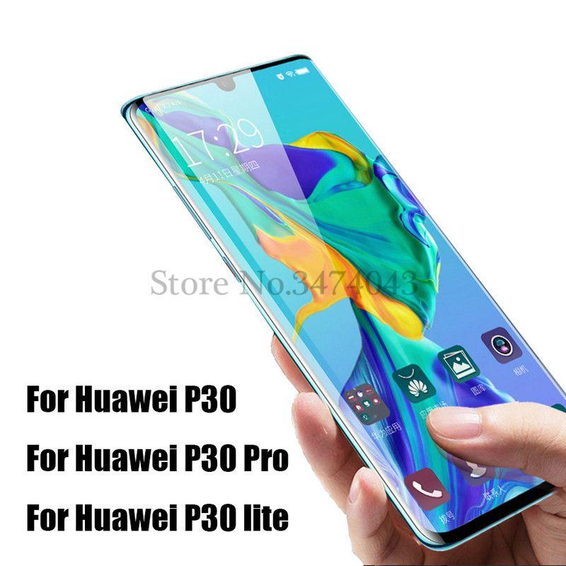 Huawei P30 Pro Için tam Temperli Cam Tam Kapak Ekran Koruyucu Anti-mavi-ray  Koruyucu Film Için Huawei P30 lite Pro Cam