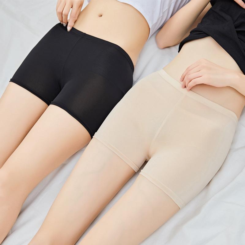 1ce7a223c 2019 Nuevas Mujeres Pantalones Cortos de Algodón Suave Sin Costuras Venta  Caliente Verano Bajo la Falda Pantalones Cortos Modal Seda de Hielo ...