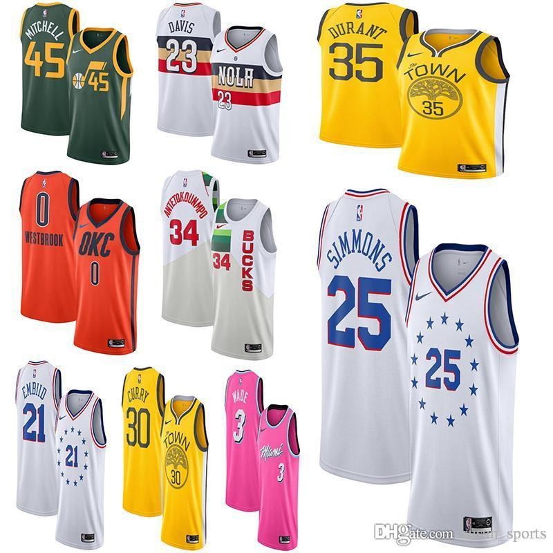 c83815320fba 30 Curry 35 Durant 23 Davis 23 Anthony Davi Utah 45 Donovan Mitchell ...