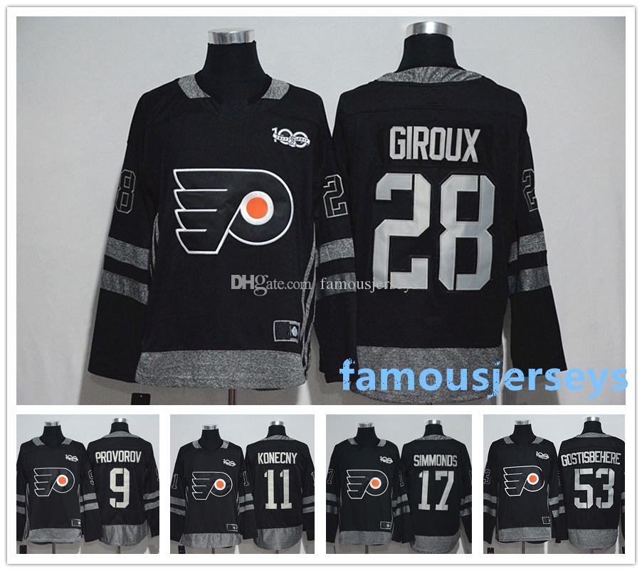 finest selection 3515d f805b Philadelphia Flyers 100th Anniversary jersey 28 Claude Giroux 53 Shayne  Gostisbehere 17 Wayne Simmonds 9 Ivan Provorov 11 Travis Konecny
