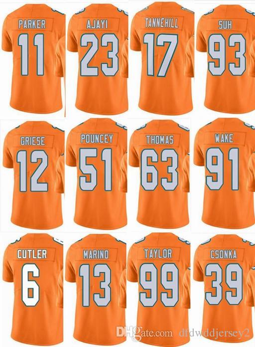 huge selection of bc60a 8705d DOLPHINS Miami #13 Dan Marino #17 Ryan Tannehill #14 Jarvis Landry #91  Cameron Wake #99 Men Women Youth Color Rush Elite Football Jerseys