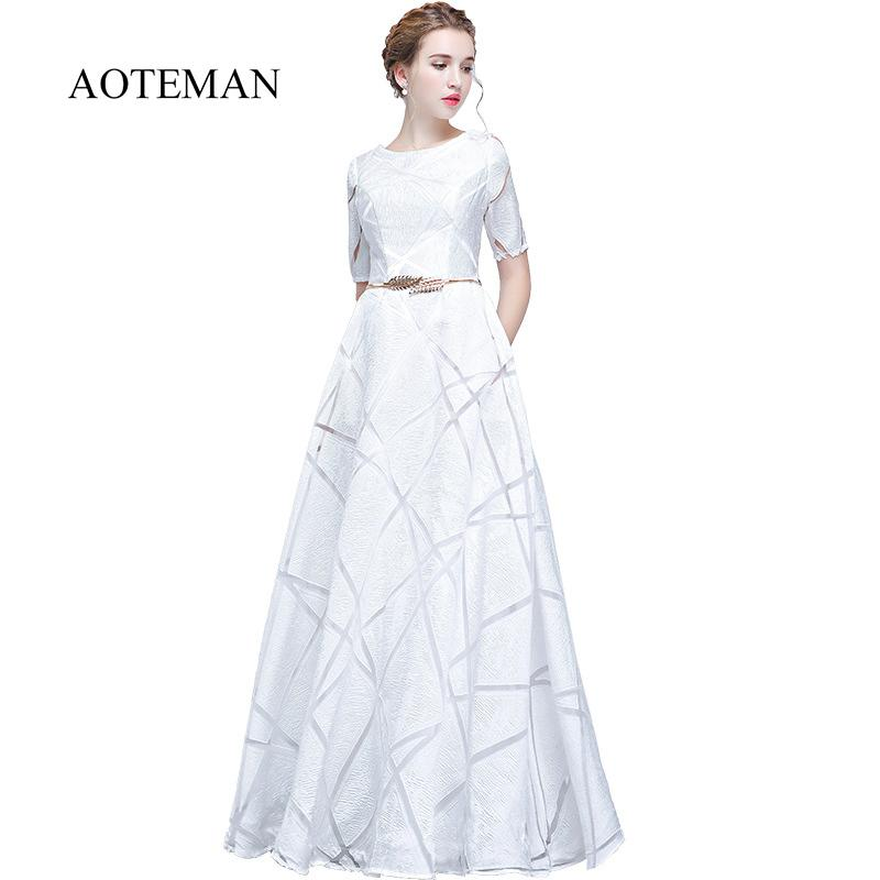 03ccb8a1b3eb9 New Spring Summer Dress Women 2019 Elegant Formal Ball Gown Long Party  Dress Female Casual Plus Size Slim Maxi Dress White Red Y190426
