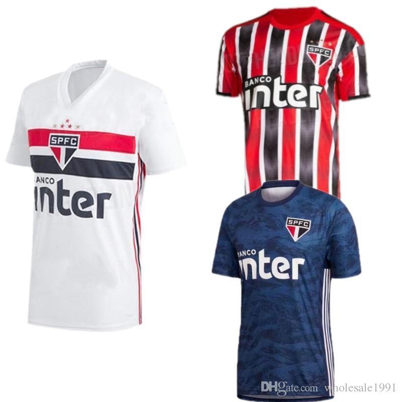 c67d80f46d Compre 2019/20 São Paulo Camisas De Futebol # 7 SOUZA # 8 JUCILEI Uniforme  De Futebol Fora De Casa 2020 # 15 HERNANES # 20 PERES Camisa De Futebol De  ...