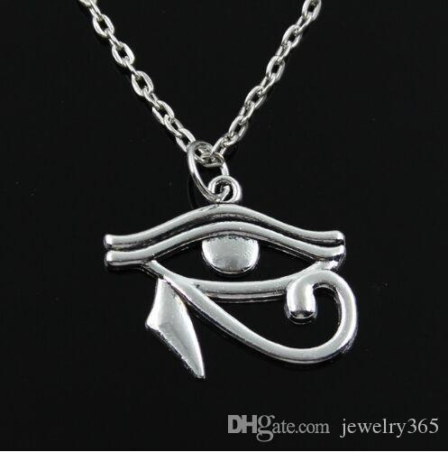 Eye of Horus Charm Tibetan Silver x 2 Pendant