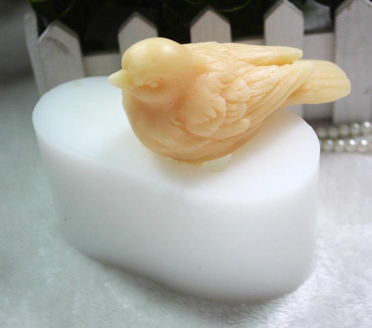 Silicone 3d Bird Sparrow Handmade Soap Mold Diy Mould Fandant Tools Aroma Stone Molds For Cake Decorations Q190524