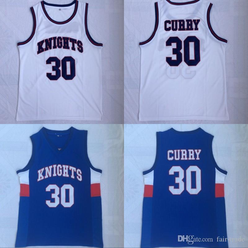 newest 706f7 79bd9 Charlotte Knights Stephen 30 Curry High School Jersey Davidson Wildcats  Basketball Curry College Jerseys Team Stitched Red White Navy Blue