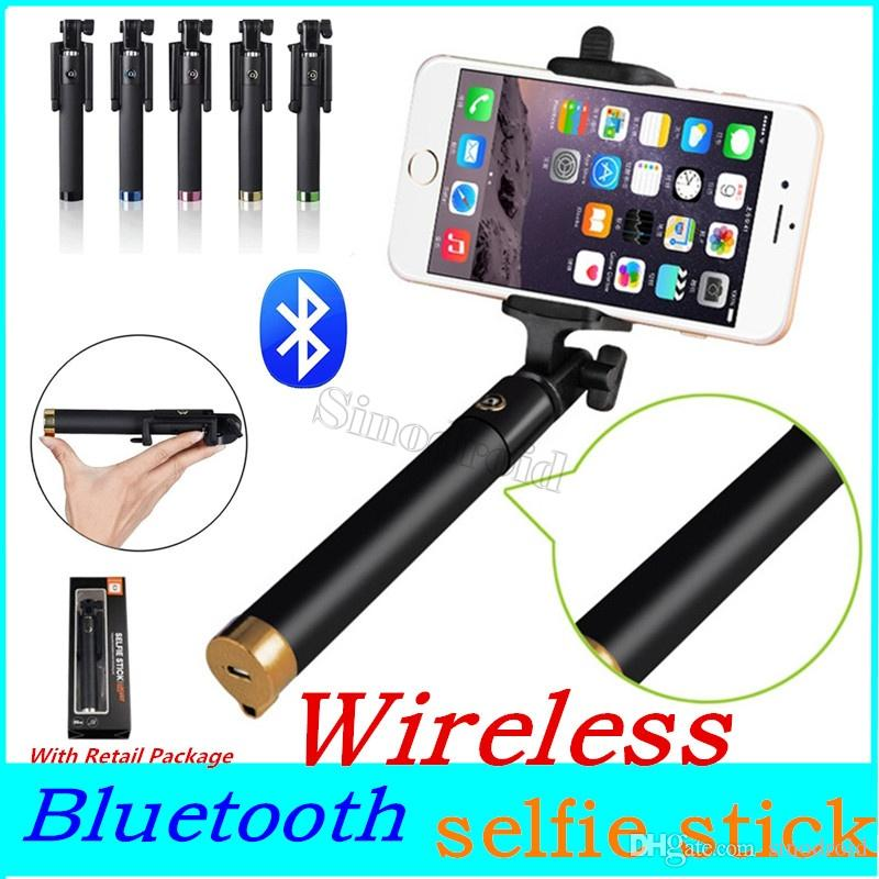 Universal Bluetooth Selfie Stick Monopod for iPhone MAX 8Plus 5s SE Palo Selfie Stick For Samsung S9 edge S6 S5 Android Wireless Selfie