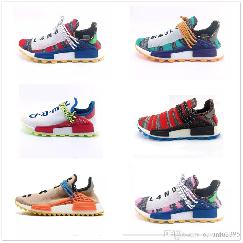 8cead88c6 Human Race Hu Trail Pharrell Williams Men Running Shoes Nerd Black ...
