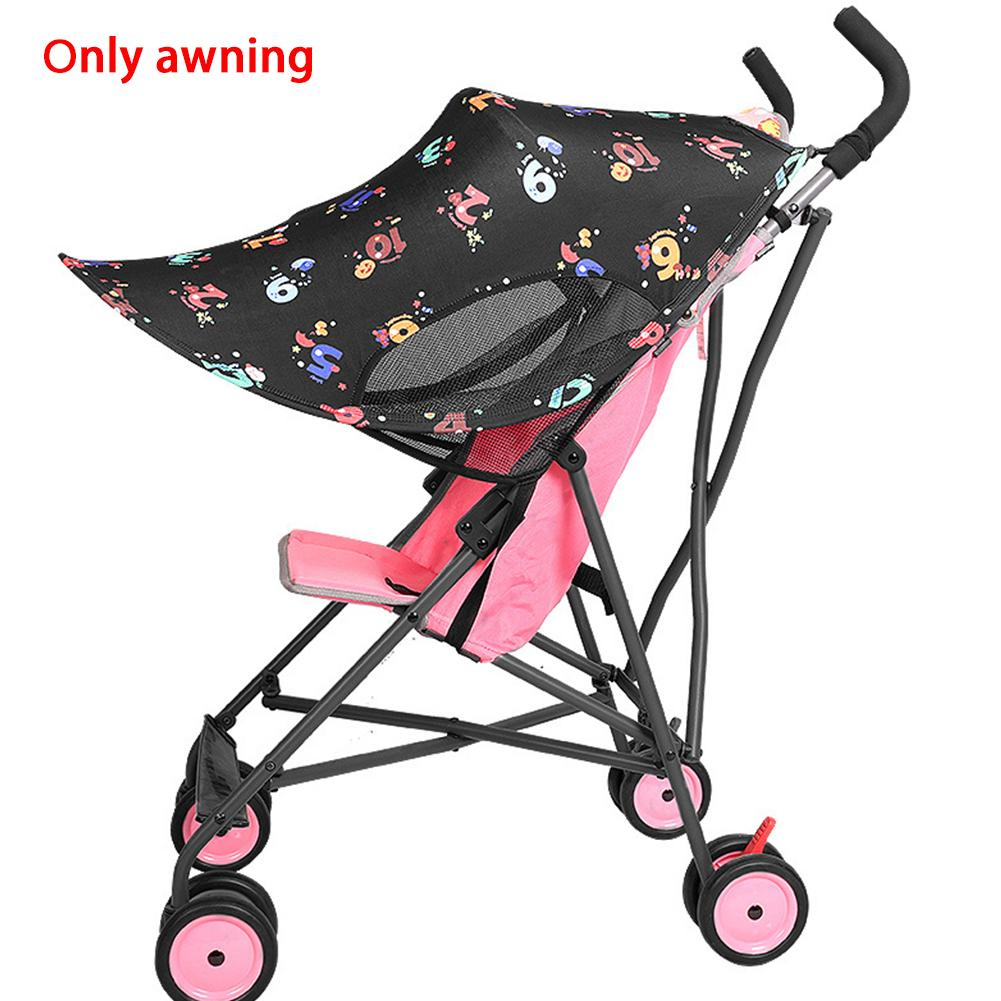 Universal Baby Stroller Anti UV Sun shade Canopy Rays Windproof Rainproof Sun