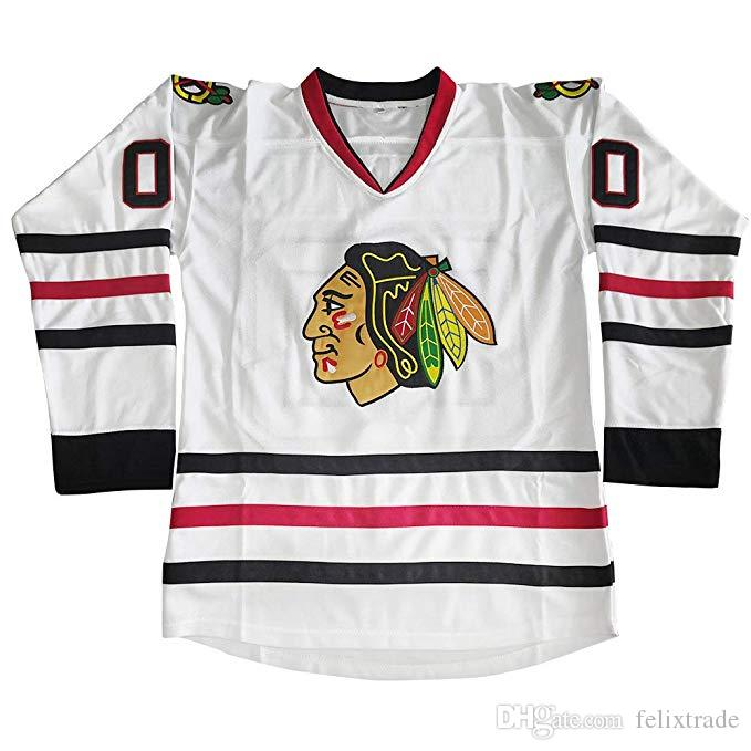 huge selection of 6d17e fbfbd Clark Griswold Blackhawks Jersey Clark Griswold 00 National Lampoons  Vacation Movie Costume Hockey Jerseys Chicago Blackhawks Christmas Gift