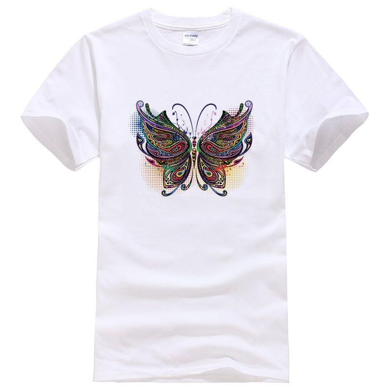 Moda Verano Corta De Impreso Mariposa 2019 Camisa Manga Hombre Frescas061 Tops Camisetas Camiseta Hipster Algodón 3d 0PXkwO8n