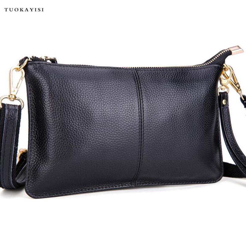 343a28b037bb Genuine Leather Women Shoulder Bags Female Purse And Handbags Girls  Children Mini Cross Body Bag Vintage Small Mini Flap Bolsos Wholesale Purses  Black ...