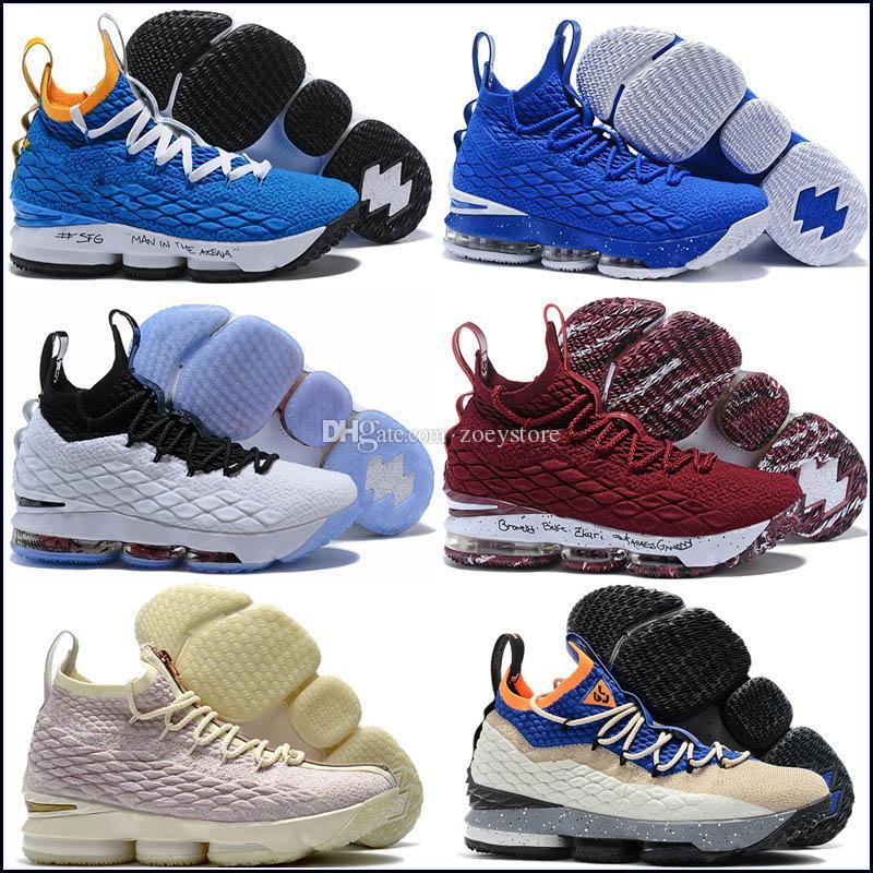 7dbc9a33ab9 2019 New Arrival XV LEBRON 15 EQUALITY Black White Basketball Shoes ...