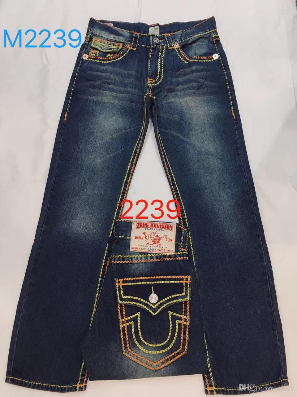 2019 19ss Brand Us Jean SIZE 30 40 Men S True Jeans ROBIN High Quality  Trousers Denim Designer Dark Solid Color Straight Tr Jean Man Pants From  Chicc c1417b2b0015c
