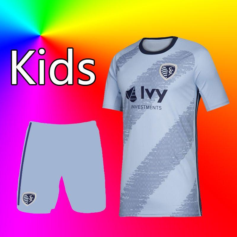 45e5b97f 2019 2020 MLS Sporting Kansas City kids home soccer jersey Football shirt  19 20 MLS kids ILIE RUSSELL SALLOI ZUSI Youth Football shirt