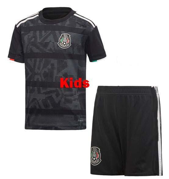 afb08382861 2019 2019 Mexico Gold Cup Soccer Jerseys Kids Jersey Home Black Youth Boys  CHICHARITO Camisetas De Futbol H.LOZANO DOS SANTOS VELA RAUL Shirts From ...