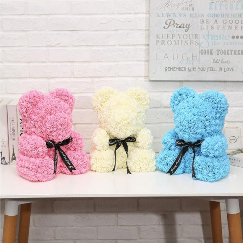 Plush Toys Bear Doll Wedding Bedroom Decoration Birthday Anniversary Gifts 6 Styles For Girl Friend Lovely Kids Bear Toy Artificial & Dried Flowers