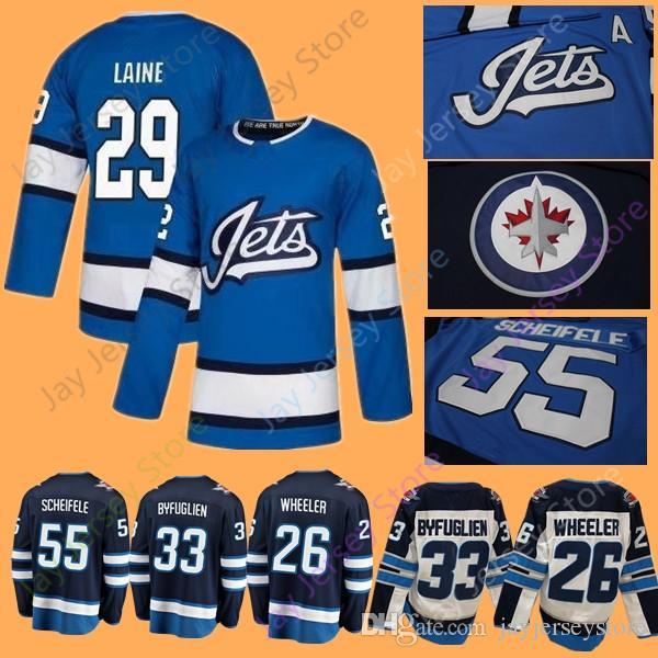another chance 90f6c faf6b 2019 New Winnipeg Jets Jersey Blake Wheeler Patrik Laine Dustin Byfuglien  Mark Scheifele Ice Hockey Men Women Youth Kid