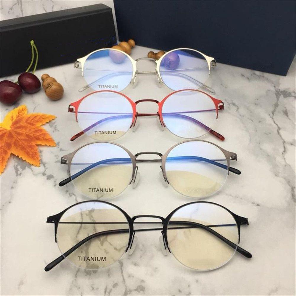 b6ebfd29d72 2019 Famous Designer Sunglasses Luxury Women Men Brand Half Frame Oval  Glasses High Quality UV Protection Titanium Eyeglasses with Package Luxury  Glasses ...