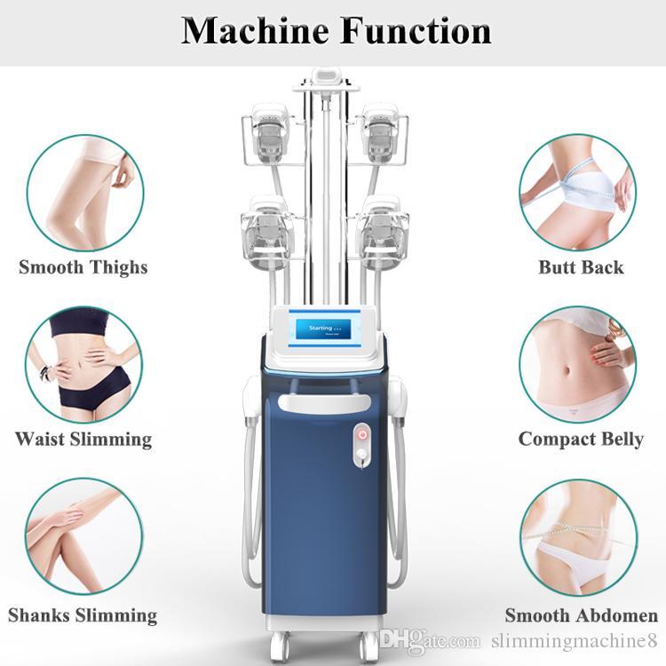 sistema de congelamento gordura CRYOLIPOLYSIS máquina de redução de gordura 360 ° queixos duplos de tratamento de 4 gordura congelação alças trabalhar em conjunto