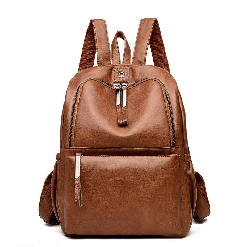 Lucky2019 Lucky2019 Both Shoulders Package Woman Pattern Pop Ma'am Backpack Korean Restore Ancient Ways Will Capacity Soft Leather Travellin