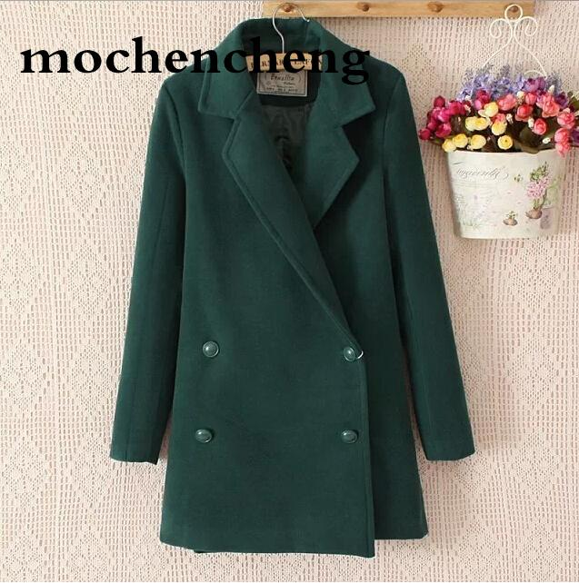 aae6415ce 2019 Women Coats 2019 Fashion Long Sections Woolen Coat Ladies Wool Coat  Collar Double Breasted Suit Jacket New Autumn And Winter From Heymonster02