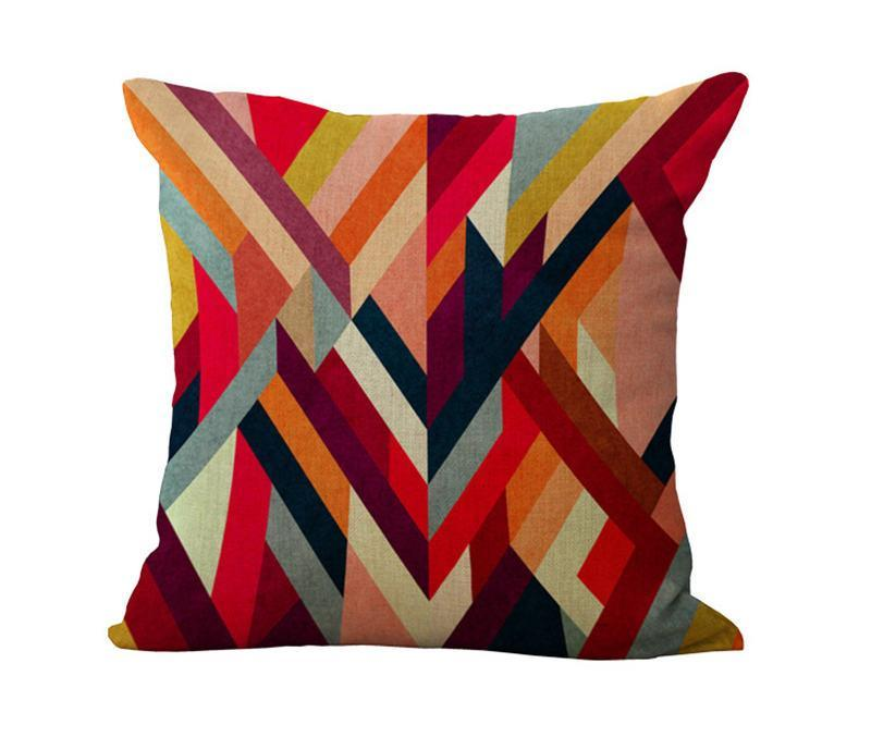 Geometric shapes Pillow Case Cushion cover Linen Cotton Throw Pillowcases sofa Bed Car Decorative Pillow covers drop shipping