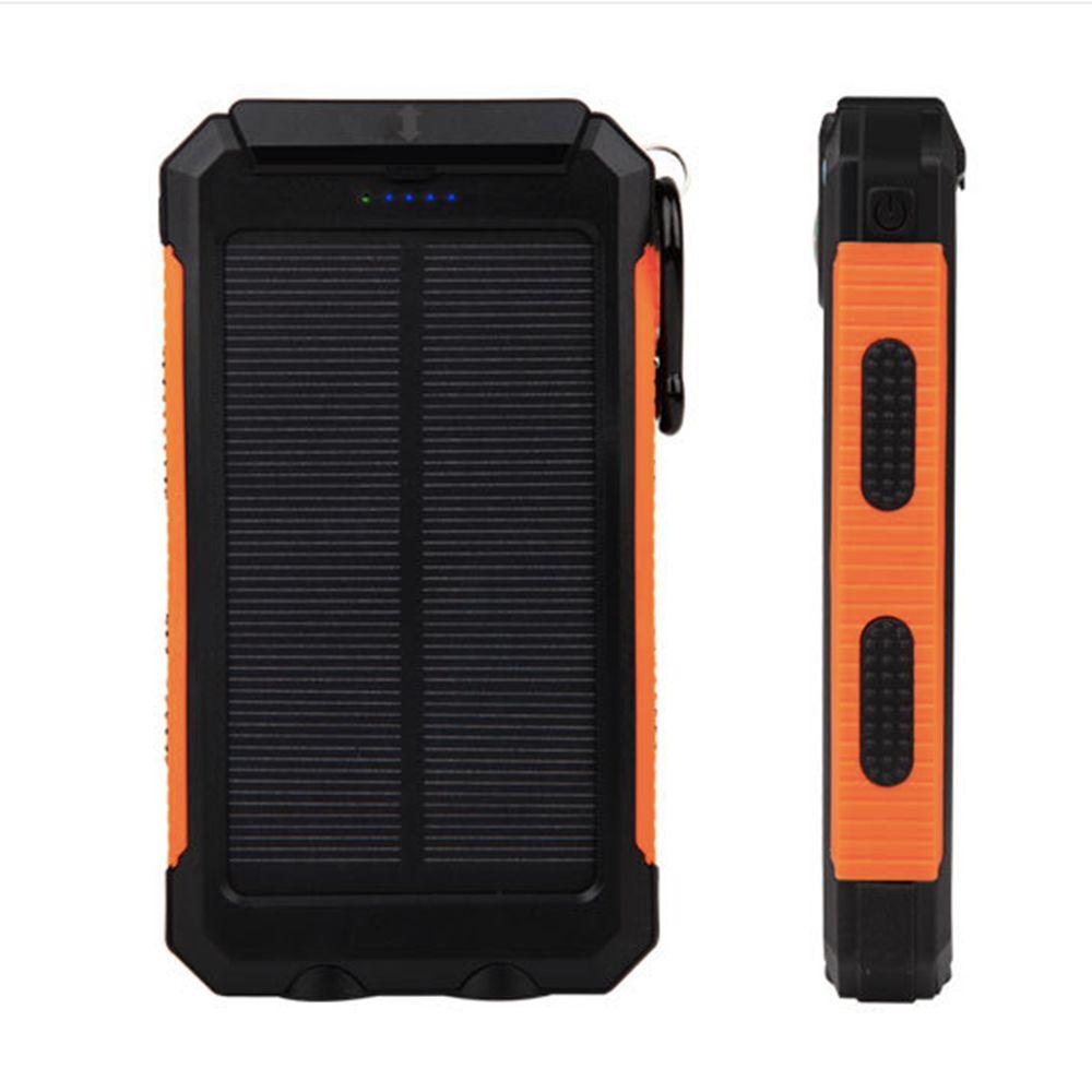 De Étanche 2 Banque Chargeur Lampe Portable Led Double Ganss 10000mah Powerbank Usb Externe Pour D Solaire Énergie Batterie Avec Poche dtsBQhrCx