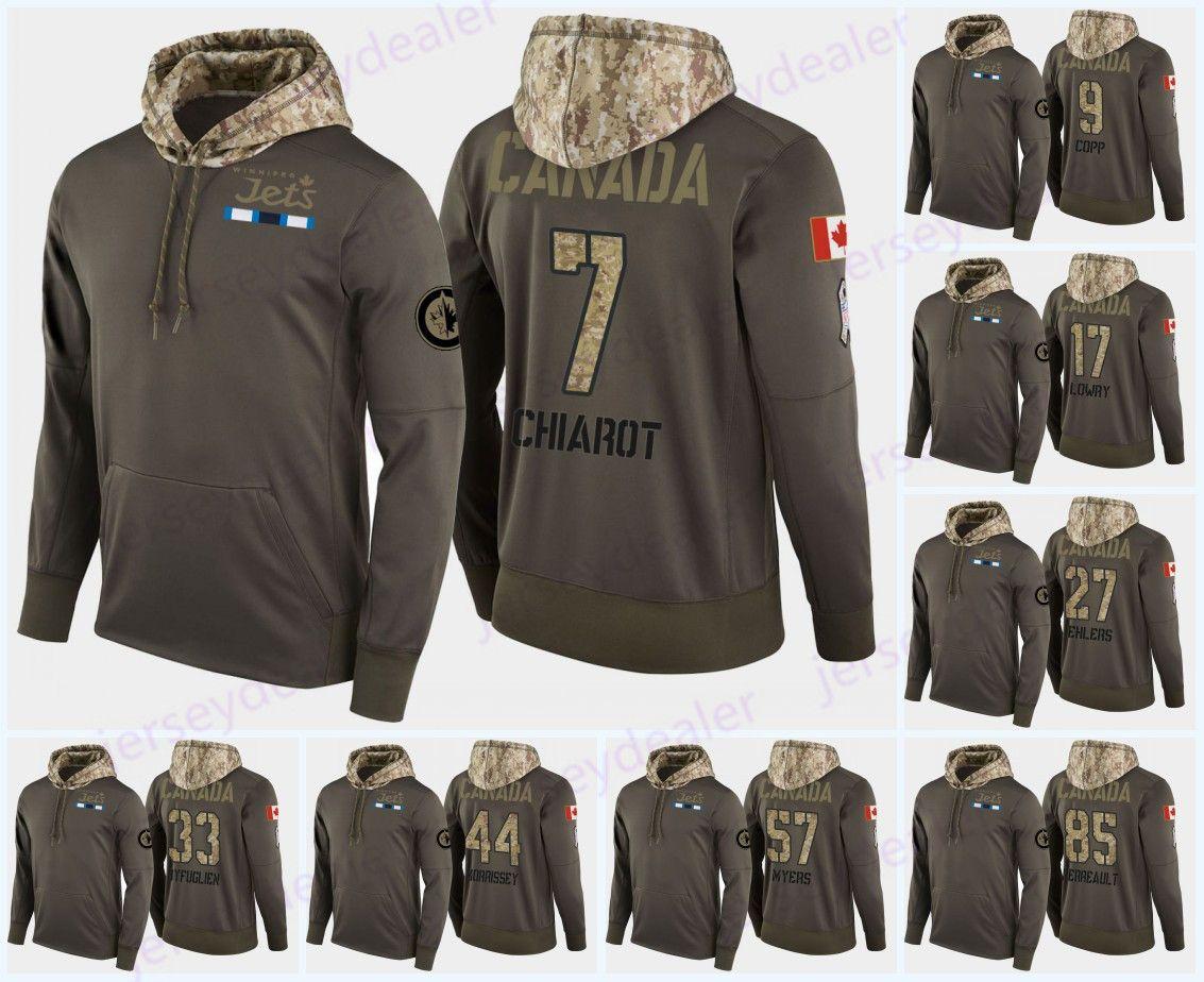 buy popular f4919 6d316 Custom Mens Winnipeg Jets Military Camo Hood Flag Hoodie Jerseys 9 Andrew  Copp 29 Patrik Laine 81 Kyle Connor Hockey Hoodies Sweatshirts