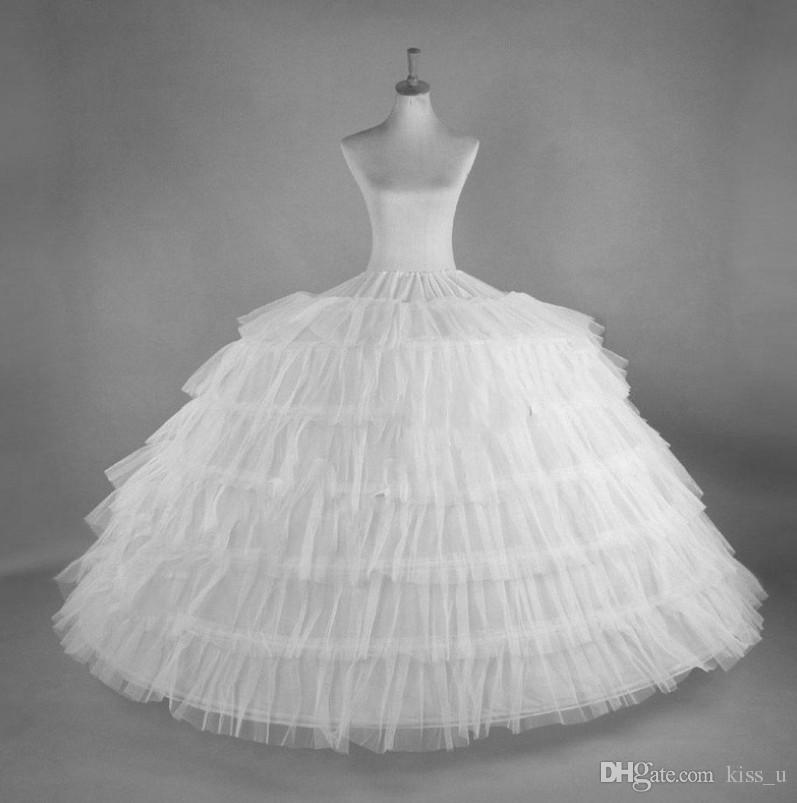 ac8492904e 6 Hoops 6 Layers Ball Gown Petticoats White Petticoat Crinoline Underskirt  Big Ruffle Wedding Accessories Tulle Underskirts