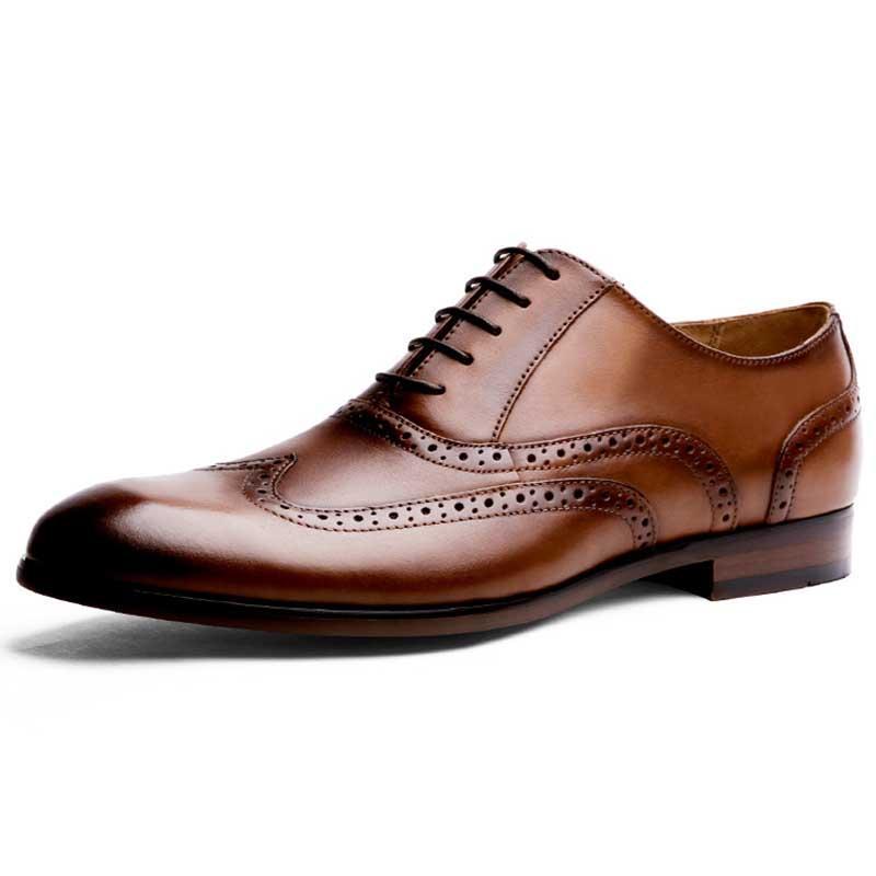 74162a4c79d2b Brock schnitzte Herrenschuhe High-End-Herrenschuhe Handwischerei große Kai  Ledergeschäft