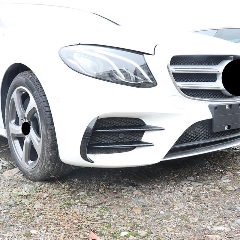 2pcs fibra di carbonio universale auto Paraurti anteriore Splitter Shark Fin Spoiler
