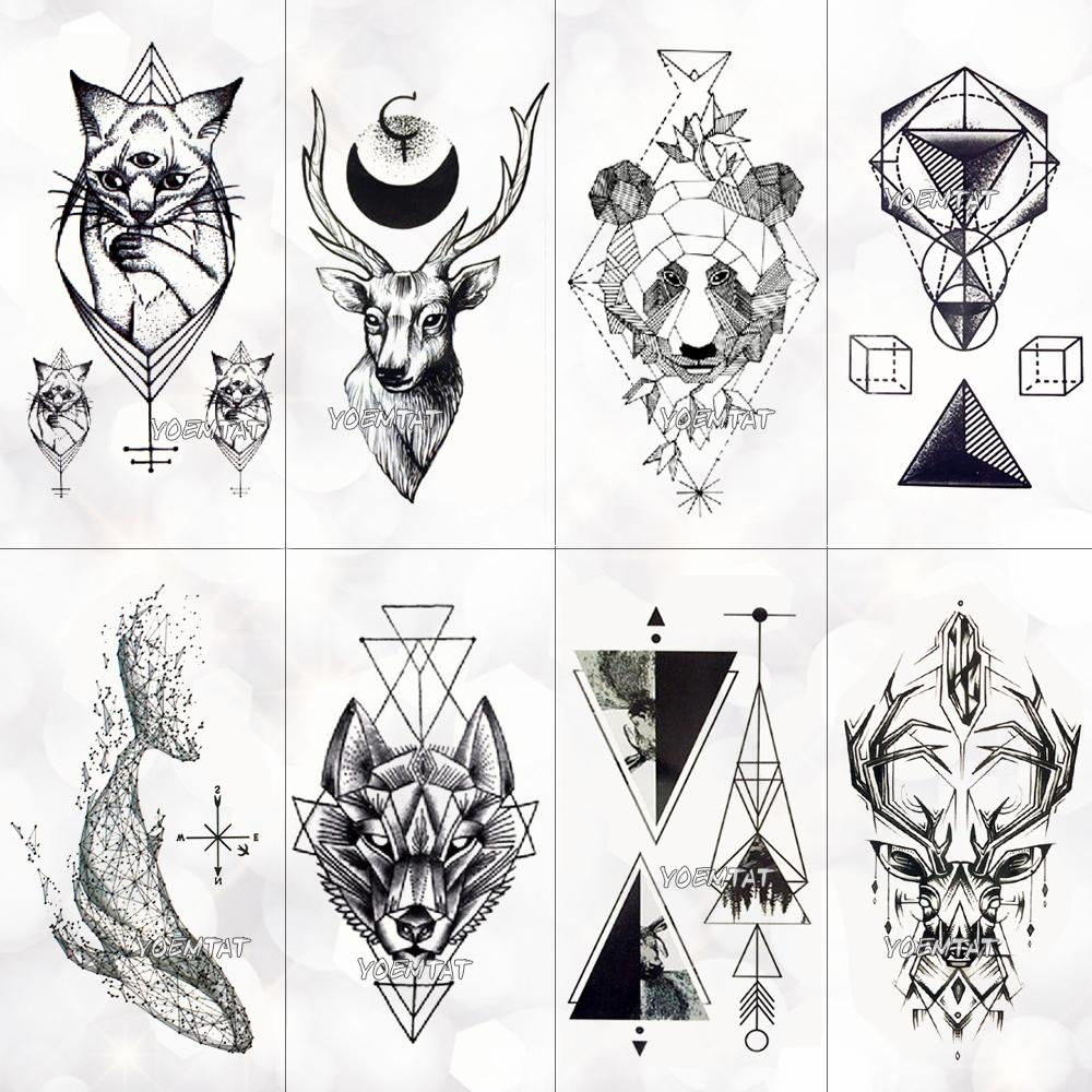 081dc932d Geometry Cool Temporary Tattoo Sticker Women Minimalist Lines Pattern Body  Art New Design Fake Men Tattoos D19011202 Temporary Henna Tattoo Temporary  ...