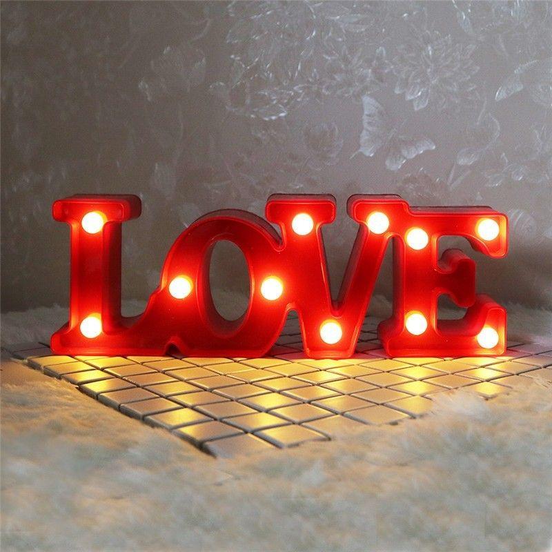 ins romantic l o v e led letter light nordicjpg