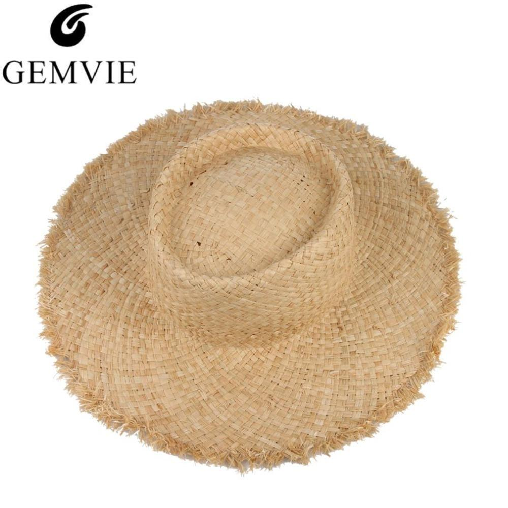 Compre Floppy Rafia Ala Grande Sombrero De Paja Sombrero De Jazz De Cúpula  Sombrero Moda Damas Sombrero De Playa Sombrero De Sol De Verano Al Aire  Libre ... f19a0daf0bc