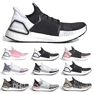 b4212bfaae490 2019 Ultra Boost Mens Women Running Shoes Ultraboost 19 Undefeated Cloud  White Oreo Pink Trainers Breathable Sports Designer Men Sneakers Running  Clothes ...