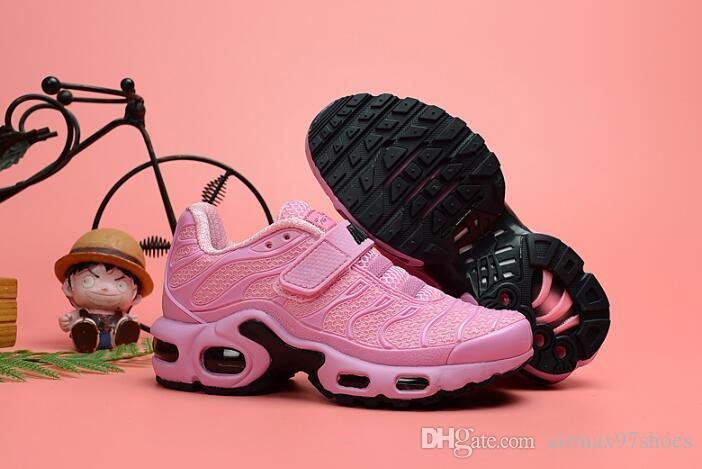 114490d759 2019 Newest Kids Pink Tn MERCURIAL Running Shoes Children KPU Tn Trainers  Sports Sneakers Toddler Plus TNs Athletic Jogging Shoes Tn Toddler Shoes  Kids ...