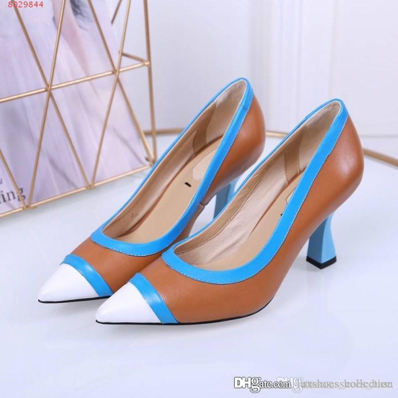 6f86596a Compre Zapatos De Vestir De Tendencia De Moda Todos Los Suela De Cuero  Genuino Importados Suela Sofisticada Y Glamorosa De Tacones Altos A $98.73  Del ...