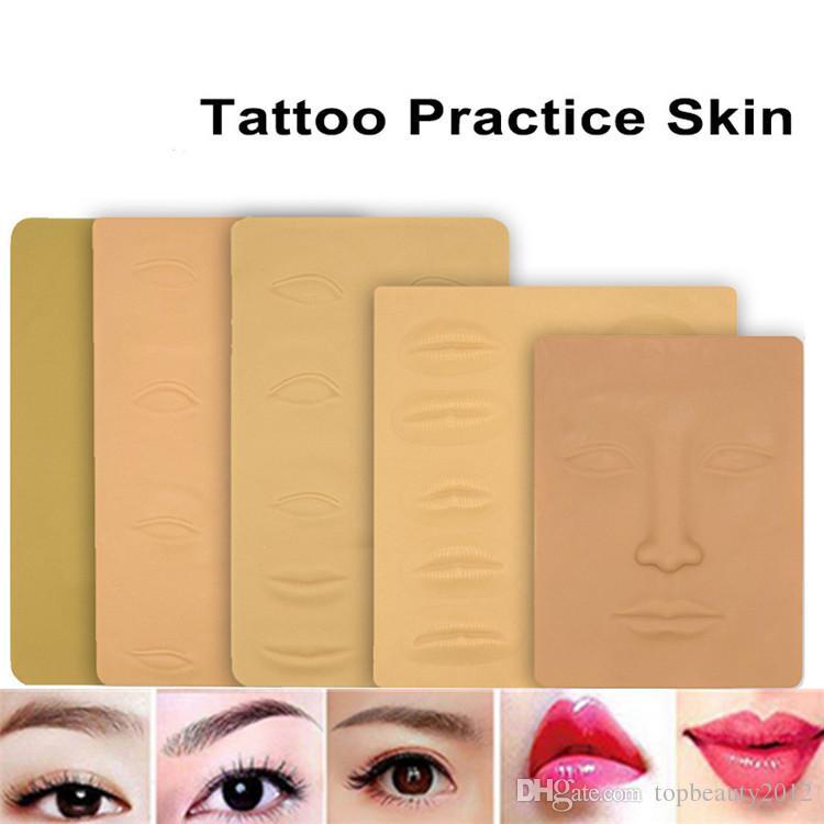 Microblading татуировки обучение скины 3D косметические поддельные скины перманентный макияж глаз губы лица практика кожи татуировки инструменты для начинающих