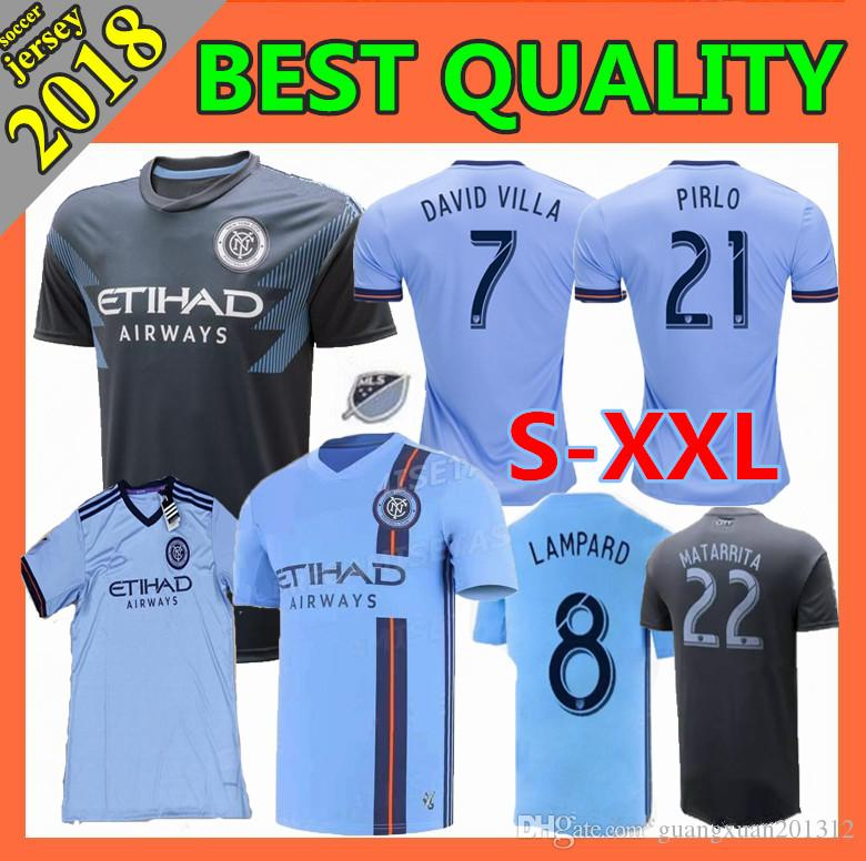 df10c150b 2019 Size S XXL 2018 2019 MLS New York City Soccer Jersey HOME Away 18 19  Thai Quality NYCFC DAVID VILLA PIRLO Football Shirt From Guangxuan201312