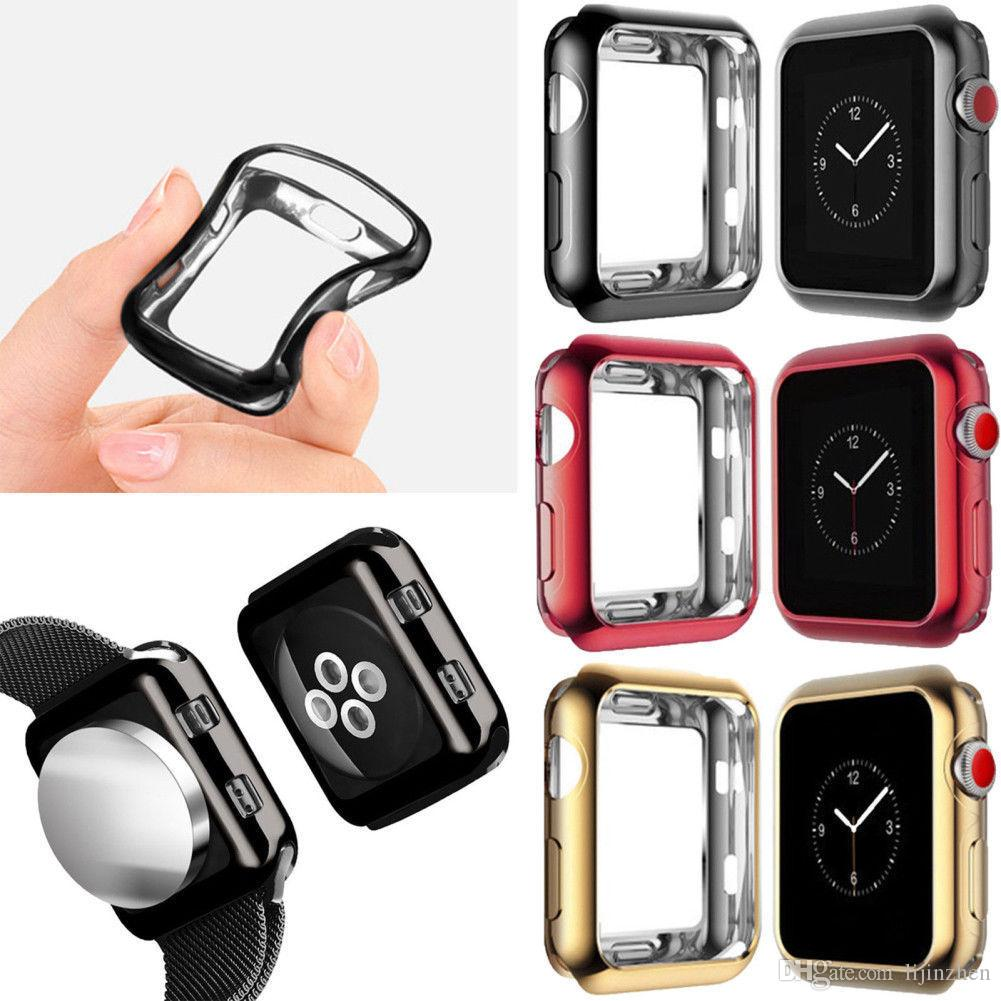 the latest 34a85 a1fa4 iWatch Case,TPU Protective Bumper Case For Apple Watch Series 4 40mm 44mm