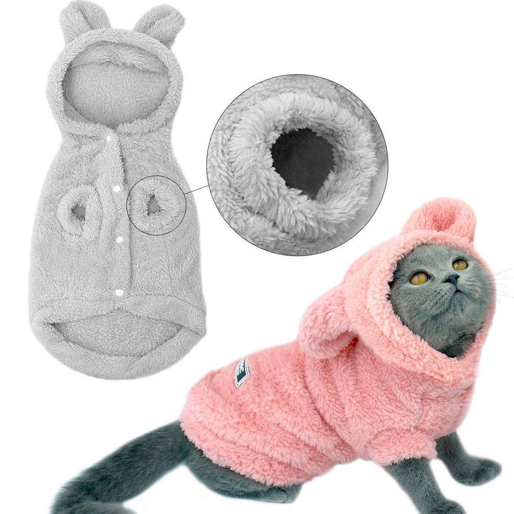 2b607f8f9c9d5 Acheter Vêtements Pour Chat Hoodies Manteaux Pour Chat Costumes De Veste  Hiver Mascotas Pour Animaux Domestiques Vêtements De Chien Pour Petits  Chiens ...