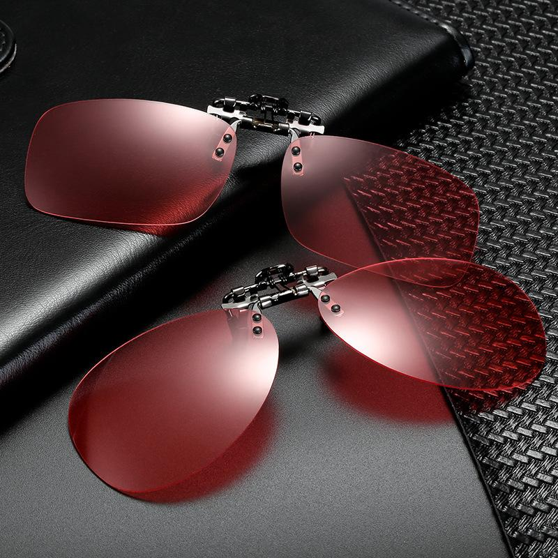 f798b17273 Compre Vazrobe Clip En Gafas De Sol Polarizadas Lente Rojo Pesca Polaroid  Gafas Lentes Anti Glare Anti Reflection UV400 Flip Up A $25.88 Del  Nectarine99 ...