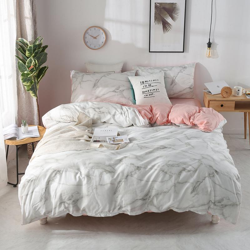 b343f6b398 Marble Pattern Printed Bedding Quilt Cover Set Modern Bed Cover King Bedding  Set Sheets & Pillowcases Romantic Bedding Set #/J Comforter Sets Cheap  Cheap ...