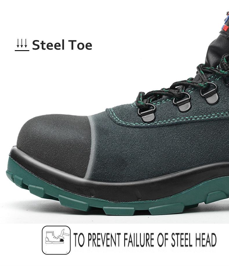 Winter Safety Boots For Men Steel Toe Puncture-Proof Anti-Smashing Safety Shoes Large Size Warm Work Shoes Men Shielding