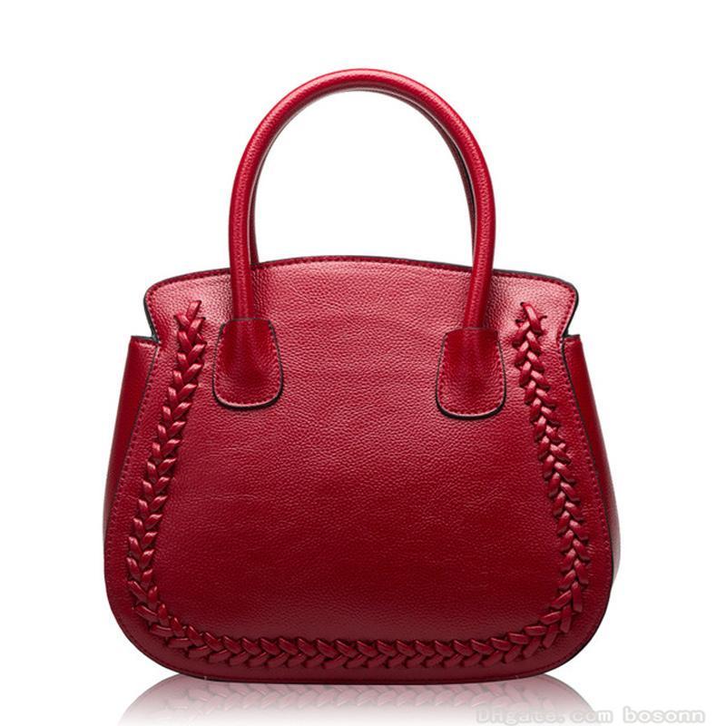 3f09e72d6818 Genuine Leather Shoulder Bag Messenger Handbags Women Litchi Pattern Shell Satchel  Top Handle Ladies Tote Purses Choice Handbag Sale Handbag Brands From ...