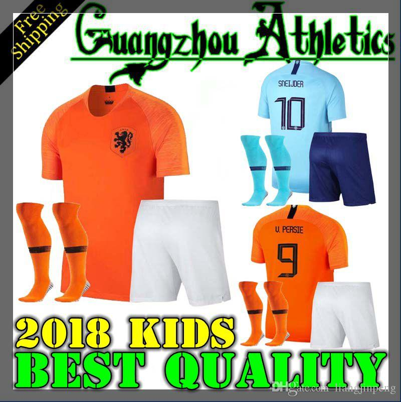 2676a938a 2019 2018 2019 KIDS Netherlands Soccer Jersey Home 18 19 European National  League Away Virgil V.PERSIE SNEIJDER MEMPHIS Child Football Shirt BOYS From  ...