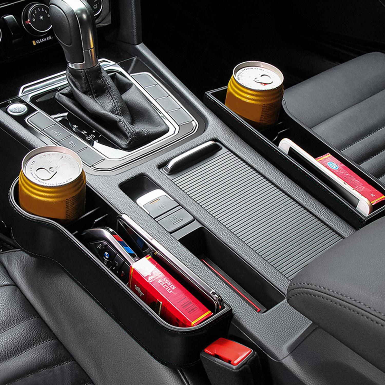 UK Seggiolino Auto Holder fessura Gap bagagli Catcher Box Pocket Organizer Telefono Cup